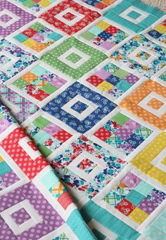 Shortcake is a super simple pattern made for beginners. It can use a jelly roll, scrap strips, or yardage. The pattern comes with the option of making a throw,