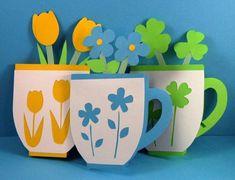 3 cartes de tasse de thé écologique par elle s par shesbattydesigns