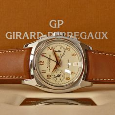 LNIB Girard Perregaux Swiss Vintage 1970 Chronograph Watch Ref. 2598 SN.AN833   WE SPECIALISE IN EXQUISITE WATCHES - MORE IN OUR STORE!