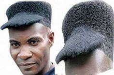 Afro baseball cap haircut