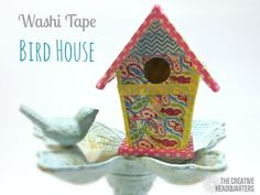 Washi Tape Birdhouse birdhouse diy crafts craft ideas diy crafts do it yourself crafty washi tape washi tape crafts do it yourself crafts