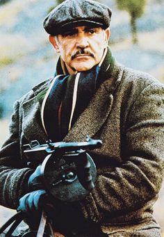 Jim Malone ~ The Untouchables (Sean Connery) James Bond, Sean Connery 007, Sean Connery Movies, Movie Stars, Movie Tv, Gangster Films, Scottish Actors, Hollywood Men, Kevin Costner
