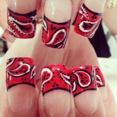 Bandana nail art done today