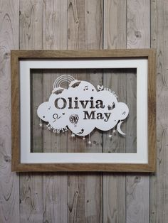 Personalised Papercutting New Baby Girl Nursery Baby Shower Frame Papercut 12x10 by SamanthaPapercuts on Etsy https://www.etsy.com/listing/188377696/personalised-papercutting-new-baby-girl