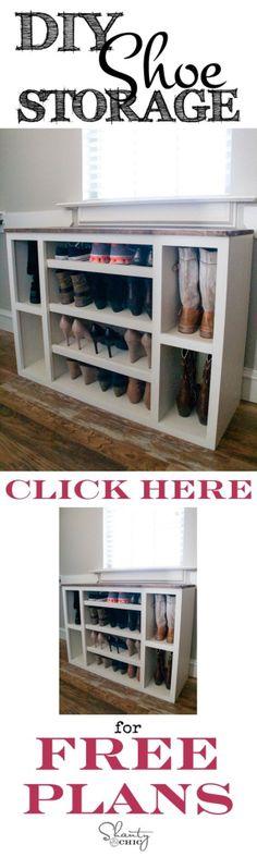 Naturel indien en bois salon couloir chaussure armoire meuble de rangement Armoire