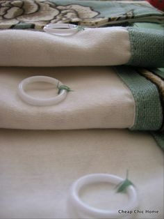DIY roman shades. Uses rings instead of tube tape.