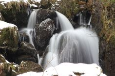 Waterfall and ice Lake District, Waterfall, Ice, Photography, Outdoor, Outdoors, Photograph, Fotografie, Waterfalls