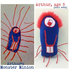 NEW CUSTOM PLUSH Personalized kids art- toy from drawing order here not actual price on Etsy, $30.00