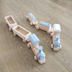 """197 Likes, 5 Comments - Iga - Happy Little Folks (@happylittlefolks) on Instagram: """"These are the two types of super cute wooden trains you can find in our shop - each train comes…"""""""