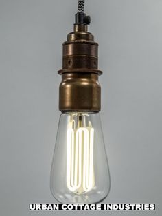 Caret lamp | with vintage brass E27 bulb holder low energy fluorescent i need these in my life
