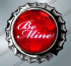 Be mine (Valentines day)-1 inch rounds graphics for scrapbooking, stickers,Digital Printable 15Bottle Cap Images File 4x6, BUY 2 GET 1 FREE