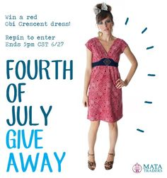 Repin to enter our 4th of July #Giveaway. More details and chances to win here: http://www.matatraders.com/blog/2013/06/4th-of-july-giveaway/
