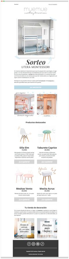 Marketing online Ecommerce para tienda online de muebles - muemue - Éruga