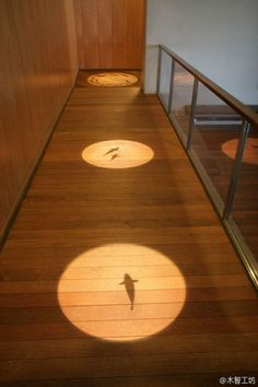Adding shapes to your hallway lighting is definitely a cool idea! Get some inspiration with this creative, unique idea. Lighting/ Unique/ Creative Lighting/ Design/ Home decor