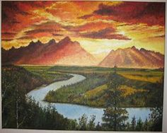 #cloud #clouds #forest #landscape #mountain #mountains #river #sunset Contact: RomCGallery@gmail.com