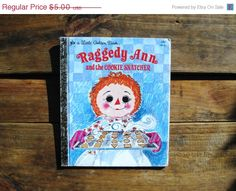 Raggedy Ann and the Cookie Snatcher Little Golden Book 107-3 1979 Darling - pinned by pin4etsy.com