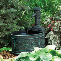 Bring the soothing sounds of water to your backyard to help create a relaxing and calming atmosphere.  Pictured is our LIttle Giant Calabria Classical Fountain: http://www.lg-outdoor.com/p/fa-c-v?pp=12
