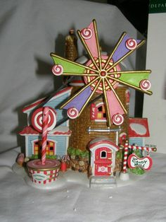 Dept 56 North Pole Series ginger windmill!
