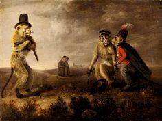 Edmund Bristow. Before The Monkey Duel.