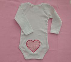 """Body """"Herzchen rosa"""" Größe 62/68 von Eve´s Design auf DaWanda.com"""