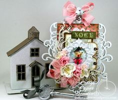Shabby Pink Noel Christmas Wooden Wall Hanging Holiday Decor 1