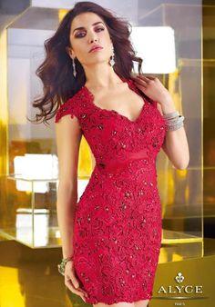 Alyce Paris Beaded Dress 2285