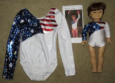 Patriotic Custom order for leotard and doll outfit to match Kerri Strug's Olympic leotard. Custom Items, Leotards, Olympics, Doll Clothes, Costumes, Pants, Outfits, Dresses, Fashion