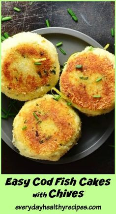 Easy Cod Fish Cakes with Chives These simple Easy Cod Fish Cakes with Chives are. Easy Cod Fish Cakes with Chives These simple Easy Cod Fish Cakes with Chives are made with very few ingredients and can be put together in minutes. Easy Fish Cakes, Cod Fish Cakes, Cod Cakes, Fish Cakes Recipe, Easy Cake Recipes, Vegaterian Recipes, Shrimp Cakes, Polish Recipes, Cod Fish Recipes