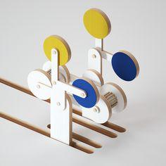 Kinetic sculptures on Behance Art Object, Motion Design, Art Direction, Sculpting, 3 D, Color Schemes, Sculptures, Digital Art, Miniatures
