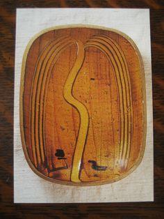 バーナード・リーチ ガレナ釉櫛描柳文 1952年 於セント・アイヴス