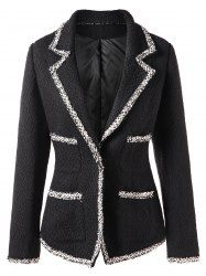 Casual Style Contrast Color Splicing Long Sleeve Blazer For Women Blazer With Jeans, Tweed Blazer, Black Blazers, Blazers For Women, Outerwear Women, Outerwear Jackets, Simple Outfits, Cool Outfits, Oversized Jeans