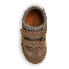 Toddler Boys' Casey Mid Top Casual Sneakers Cat & Jack - Brown 11