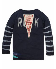 Worked-Out College Tee With Contrasting Sleeves > Kids Clothing > Boys > T-shirts at Scotch Shrunk - Official Scotch & Soda Online Fashion & Apparel Shops Fashion Design For Kids, Kids Fashion Boy, Fashion Men, Scotch Shrunk, Scotch Soda, Graphic Tee Style, Graphic Tees, Kids Clothes Boys, Summer Boy