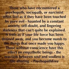 Narcissists and Evil go hand in hand.