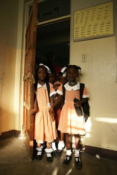 Beautiful pic of some of our children from the SOS school in Port-au-Prince, Haiti.