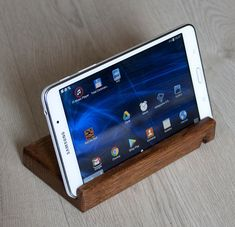 Wood Phone Stand, Smartphone Stand, Tablet Stand, Dual, Oak