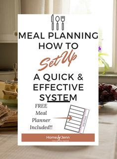 Become more organized, save time, and become healthier with a solid meal planning system. FREE meal planner included.