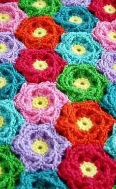 Ravelry: Waikiki Wildflower Crochet Blanket pattern by Susan Carlson