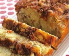 Apple Cinnamon Loaf Recipe -- sounds yummy -- a bit different than my usual apple bread recipe -- may need to add the streusel from that one to this one, though! Apple Cinnamon Loaf, Cinnamon Apples, Ground Cinnamon, Apple Bread, Apple Loaf Cake, Banana Bread, Spiced Apples, Banana Pudding, Fig Bread