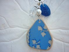 Sea Glass Necklace  Blue Beach Sea Pottery by TheMysticMermaid