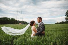 Field wedding portraits