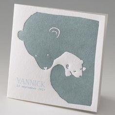 Faire-part de naissance  little love belato 714067B- Ours