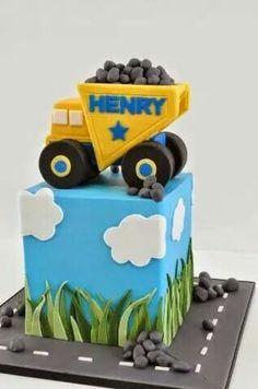 İnşaatcı temalı doğumgünü pastası
