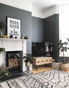 How to decorate your home with black paint. Black living room home decor. Scandinavian inspired living room decor inspiration Source by Viva_La_Villa Room Design, Black Walls Living Room, New Living Room, Living Room Wall, Living Room Grey, Black Living Room, Home And Living, Living Room Designs, Victorian Living Room