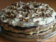 Fortinnsvis en gang vi har mange å dele den med. Dacquoise, Low Fodmap, Sweet Life, Let Them Eat Cake, Amazing Cakes, Cooking Tips, Nom Nom, Cake Recipes, Cake Decorating