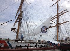 The tall ships arriving in the port of Savannah.