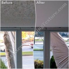 Popcorn ceiling removal in #Vancouver. #PopcornCeilingRemoval #PopcornCeilings #CeilingTextureRemoval #SmoothCeilings #CeilingRepair #CeilingRenovations