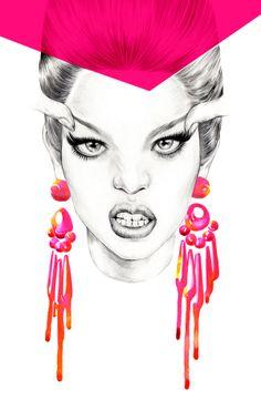 fashion illustration . 1 by mina kim, via Behance