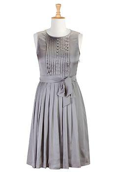 I <3 this Tux front satin dress from eShakti