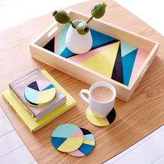 Geometric Serving Tray via Urban Crafter